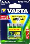 Acumulator Varta Power Ready2Use Micro AAA 4 buc./blister 1000mAh